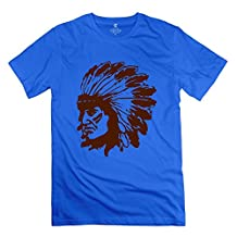 Indian Chief 100% Cotton Men's T Shirt RoyalBlue Size L Cool By Rahk