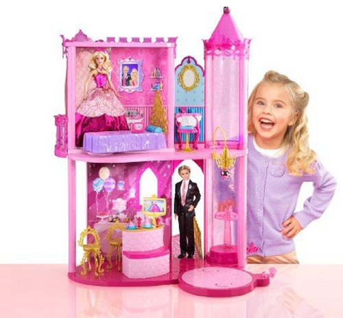barbie schloss mit aufzug