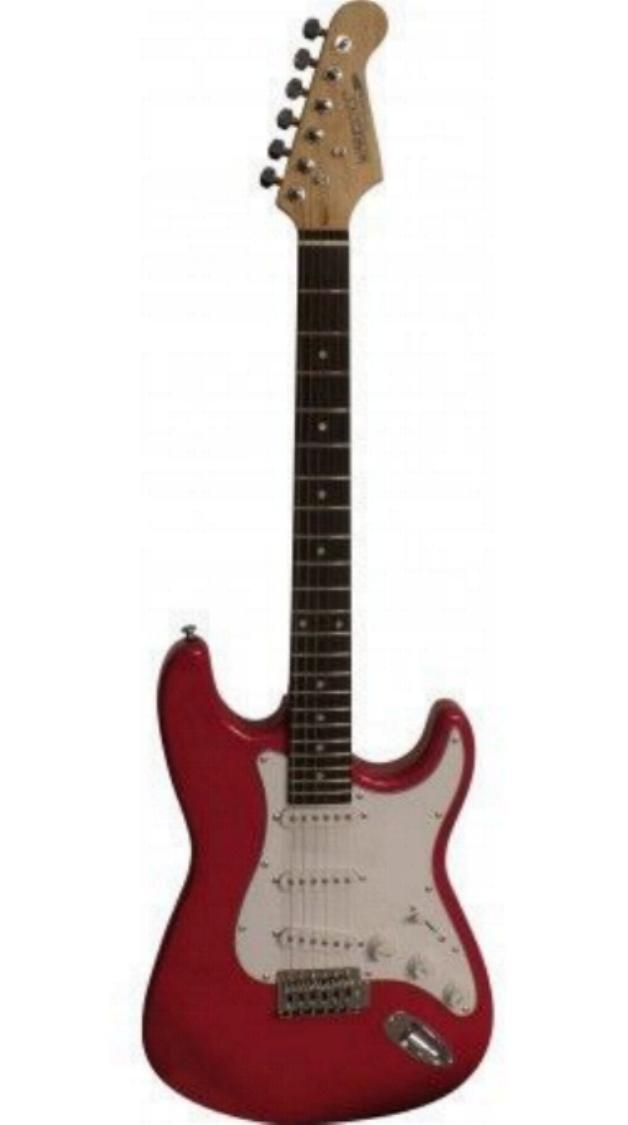 Warriors - Guitarra eléctrica color Rojo Metálico - egs12rdm (Fabricante Precio recomendada 99 €): Amazon.es: Instrumentos musicales