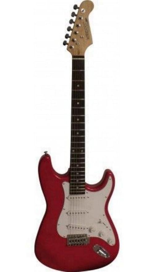 Warriors – Guitarra eléctrica color Rojo Metálico – egs12rdm (Fabricante Precio recomendada 99 €)