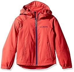 Columbia Big Boys\' SplashFlash II Hooded Softshell Jacket, Sunset Red, Medium