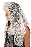 Two Mantilla Veils for Church, Black and White