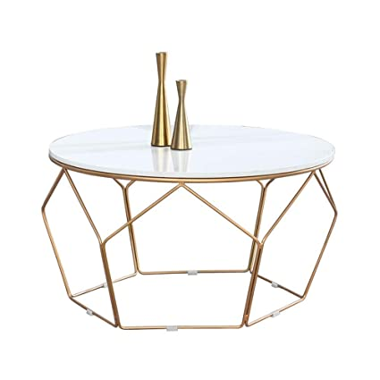 Round Coffee Table Gold Legs 7