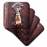 3dRose Danita Delimont - Doors - Turkey, Anatolia, Aspendos, hand of Fatima door knocker. - set of 4 Ceramic Tile Coasters (cst_277013_3)