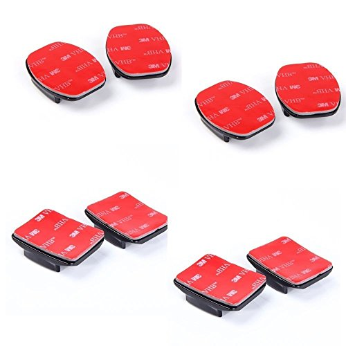 Aketek 4pcs Curved+4pcs Flat Adhesive Mounts Sticky for GoPro Hero Cameras