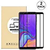 KTTWO Samsung Galaxy A7 2018 Screen Protector Glass, (2PACK) Full Screen Coverage Anti-Scratch Bubble-Free Tempered Glass Screen Protector with Full Glue for Samsung Galaxy A7 2018/A750FZ, Black