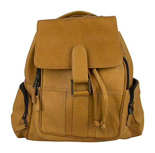 Latico Leathers Discovery Backpack, Natural, One Size, 100% Authentic Leather