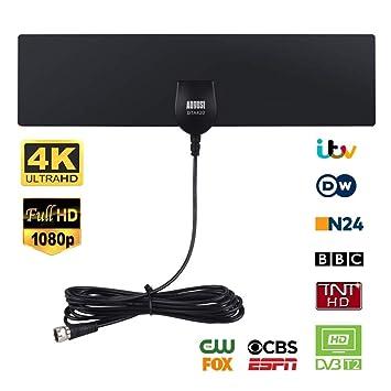 August DTA420 – Antena de Televisión TDT y HD – Antena Portátil de Alta Ganancia DVB-T/DVB-T2 HDTV – También Compatible con Radio Digital