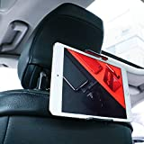Car Tablet Holder, Lamicall Car Headrest Mount : Universal 360 Rotating Car Seat Stand Cradle for All 4.4~11' Tablets, Pad Pro 9.7, 10.5, Air mini, Nintendo Switch, Tab, Mobile Phones - Red