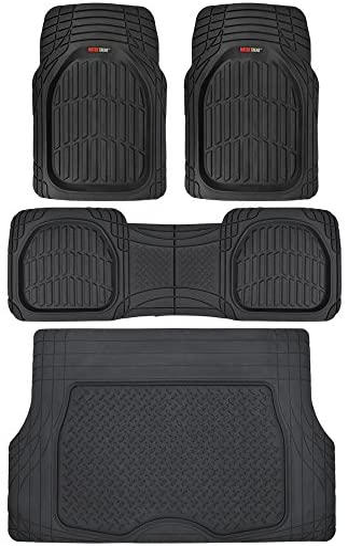 Finders | Motor Trend 4pc Black Car Floor Mats Set Rubber