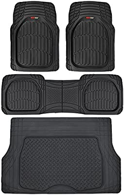CHARCOAL GRAY HEAVY DUTY RUBBER FLOOR MATS /& CARGO MAT 4PC for SATURN TRIBUTE