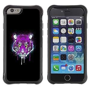 Suave TPU GEL Carcasa Funda Silicona Blando Estuche Caso de protección (para) Apple Iphone 6 PLUS 5.5 / CECELL Phone case / / Neon Pink Purple Tiger /