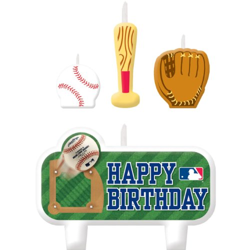 (amscan MLB Collection Candle Set, Party Decoration, 6 Sets)