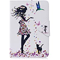 Lenovo S850 Case, Ngift [Wrist Strap] [Stand Feature] PU Leather [Butterfly Flower] Flip Wallet Case Cover for Lenovo S850 - Black