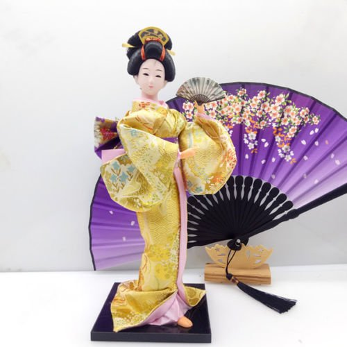 33cm/12.99'' Japanese Traditional Vintage Kimono Cloth Geisha Doll (Chinese Collectible Doll)