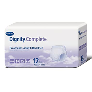 Dignity Complete Briefs, Large, 12