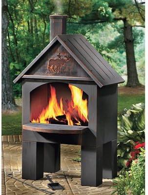 Amazon Com Kotulas Cabin Style Outdoor Cooking Steel Chiminea