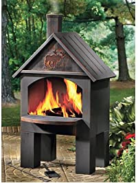 Kotulas Cabin Style Outdoor Cooking Steel Chiminea