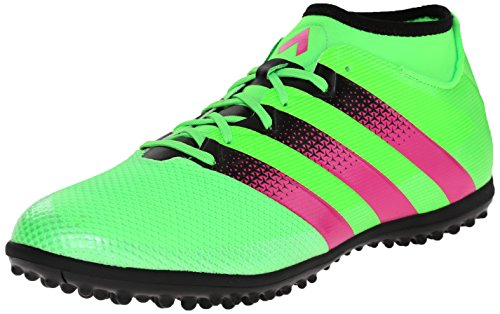 adidas Performance Men's Ace 16.3 Primesh Turf Soccer Shoe,Shock Green/Shock Pink/Black,9 M US (Men Turf Shoes Soccer)
