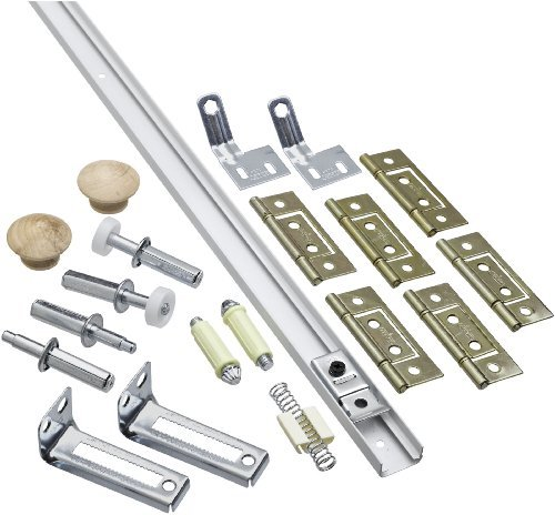 National Hardware 391D 60 Folding Door Hardware Set in White by National by National