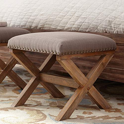 A Line Furniture Versatile Accent Ottoman with Nailhead Trim (Versatile Ottoman)