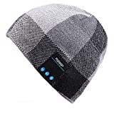 Mydeal Wireless Bluetooth Beanie Hat Headphone Headset Music Audio Cap for Women Men with Speaker & Mic Hands Free Outdoor Sports,Compatible with Iphone X/ 8 plus,Samsung,Best Christmas Gifts -Black