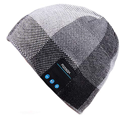 Mydeal Wireless Bluetooth Beanie Hat Headphone Headset Music Audio Cap for Women Men with Speaker & Mic Hands Free Outdoor Sports,Compatible with Iphone X/ 8 plus,Samsung,Best Christmas Gifts ()