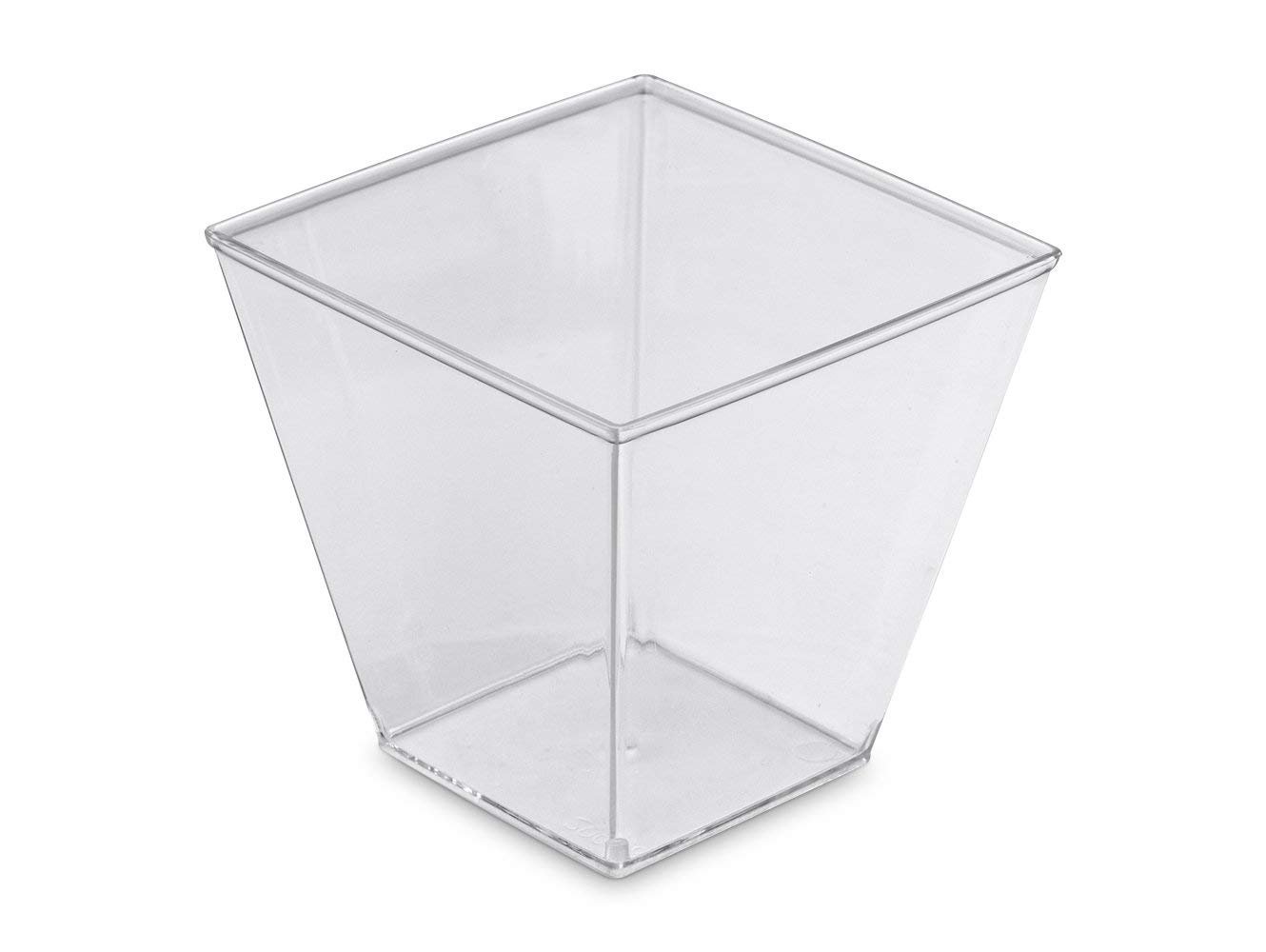 200ml Square Canape/Dessert Pot & Lids 70mm x 70mm Packed 1x50's ... .. JENPAK