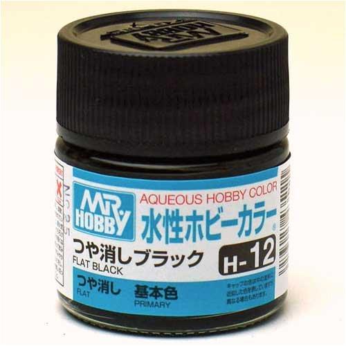 水性ホビーカラー H12 つや消しブラック