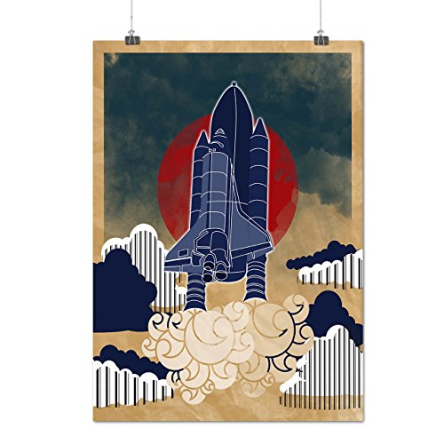 Rocket Galaxy Geek Space Explore Fun Matte Glossy Poster A1  24X33 Inches    Wellcoda