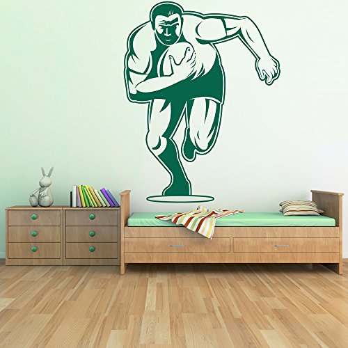 azutura Rugby Player Wall Sticker Sports Wall Decal Boys Bedroom Home Decor available in 5 Sizes and 25 Colours Small Burgundy