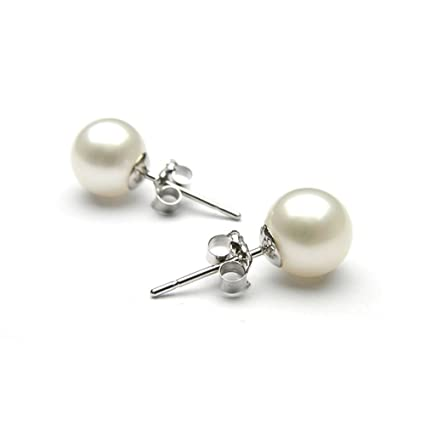 15a322f738da Pendientes Perlas Mujer Plata de Ley 925 Perlas agua dulce de con Para