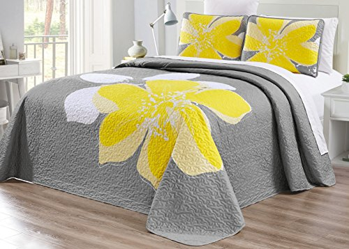 quilt set queen yellow - 1