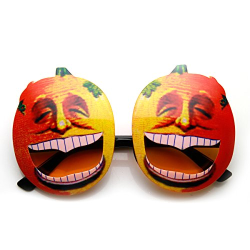 Pumpkin Head Laughing Angry Silly Novelty Halloween Party Sunglasses (Laughing)