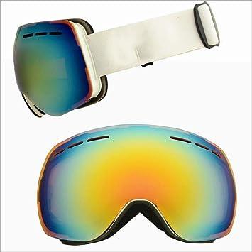 Tcbolsillo Gafas Polarizadas, Gafas De Esquí, Gafas Esféricas Grandes, Escalada Deportiva De Doble Capa Antivaho para Deportes Al Aire Libre,D: Amazon.es: ...