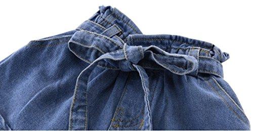 Girl Summer High Waist Belt Fashion Toddler Little Girl Casual Denim Shorts (9, (Doc Mcstuffins Halloween Special)