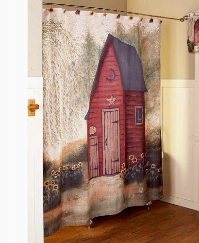 (The Lakeside Collection Outhouse Shower Curtain)