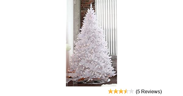 Amazoncom 7 Pre Lit Sparkling White Christmas Tree With Led Light