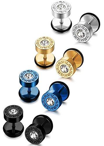 FIBO STEEL Stainless Earrings Piercing