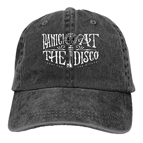 Gltiosr Panic at The Disco Adjustable Washed Cotton Trucker Hat Low Profile Baseball Cap Black ()