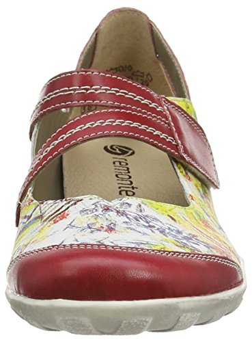 Varios multi Colores Remonte Fire Bailarinas Mehrfarbig Rot R3427 Mujer 33 Weiss aqzPTt