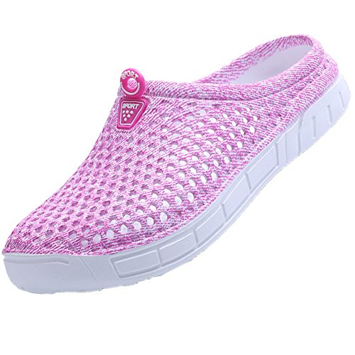 Ryanmay Womens Mens Comfortable Walking Garden Shoes Slippers Quick Drying Sandals Pink