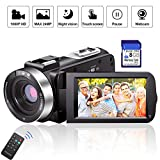 Digital Camera Camcorders AOOE HD Recorder 1080P 24 MP 16X Video Camcorder 3.0 Inch LCD Stabilization With 270 Degree Rotation Screen Powerful Scalablity Camera Bag Lithium Battery (Standard)