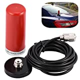 Vhf/UHF Dual-Band Vehicle Mobile Radio Antenna with Magnetic Mount Base Cable for Car