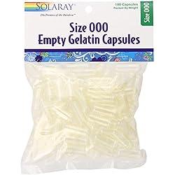 Solaray Empty Gelatin Capsules, 100 Count