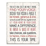 Artissimo Designs 32077CPBG0 Your Life is Now 1-Piece Sign Image Printed Canvas Art, 20 by 16-Inch