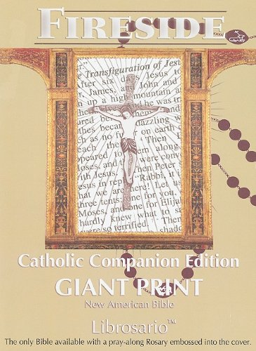 Catholic Companion Edition - Librosario® Black Giant Print Bible-Nab