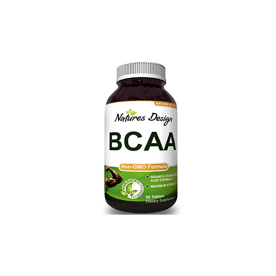 BCAA Pills Pure Concentrated Essential Amino Acids, Muscle Recovery + Repair and Build Muscle Best Lean Gains Supplements for Women and Men 3000 mg Dosage by Natures Design
