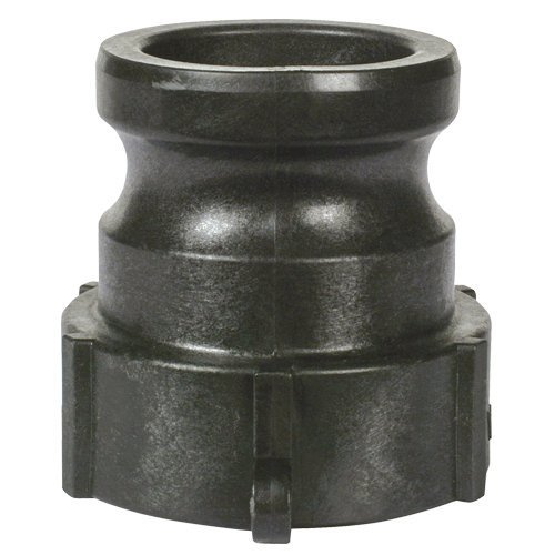 3 Apache 49010450 Part A Male Cam and Groove Adapter Black Polypropylene