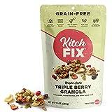 Gluten-Free, Low Sugar, Low Carb Granola by Kitchfix   Grain-Free   Paleo   Vegan Plant-Based Protein   Triple Berry 10oz